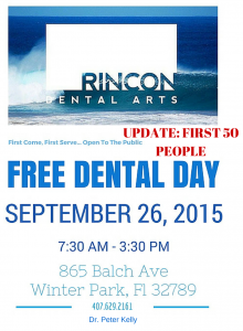 Free Dental Day – September 26, 2015